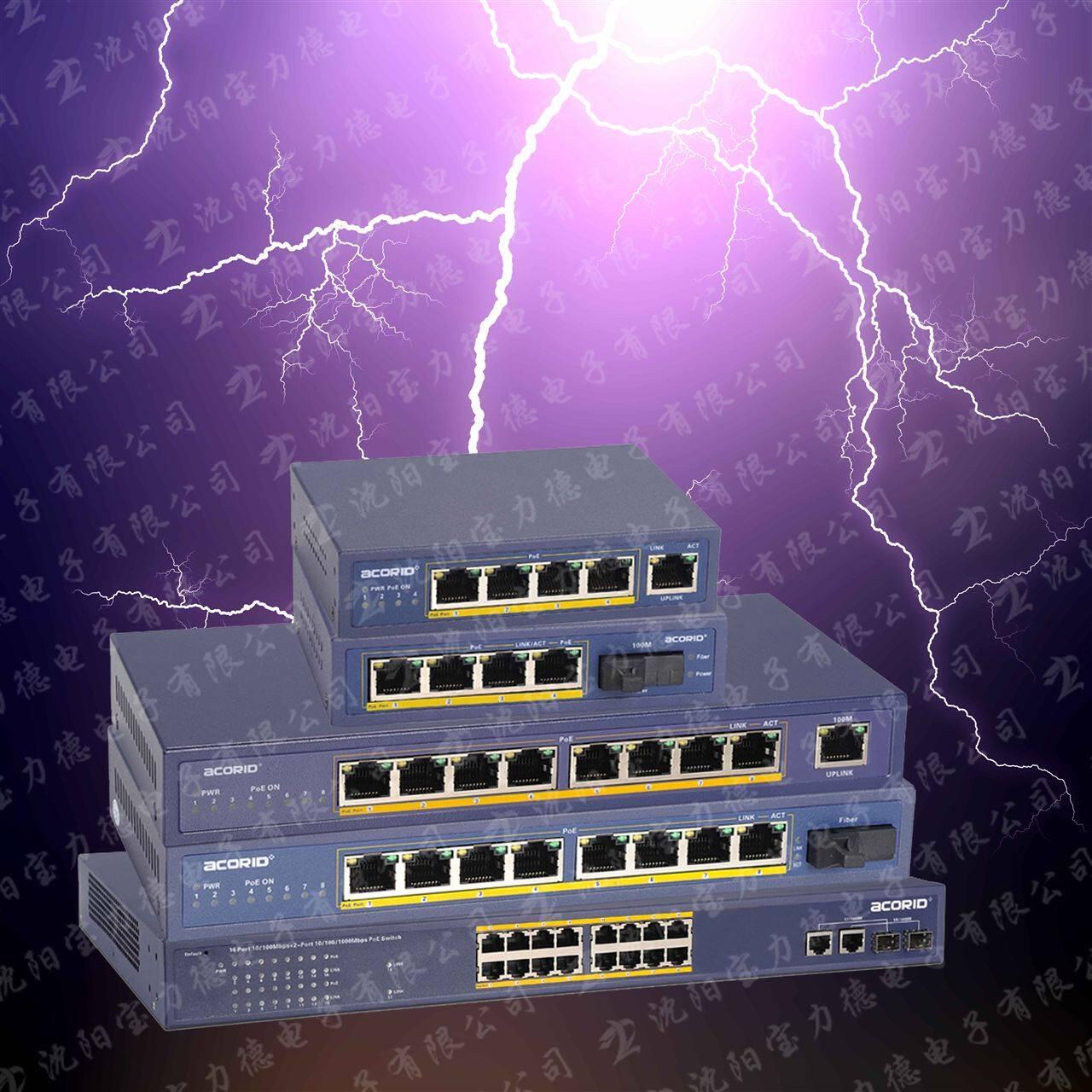 网络监控中poe供电的防雷解决方案