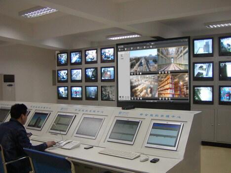 天眼智应用报警系统成功倒车于江苏某高铁项分析视频影像图片